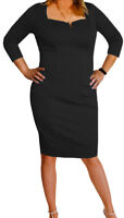 TB@ Funfash Plus Size Clothing Women Black LBD Party Cocktail Dress Made in USA
