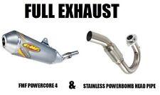 FMF FULL EXHAUST POWERBOMB HEADPIPE + POWERCORE 4 MUFFLER 08 09 KLX450R KLX 450R