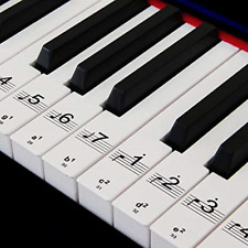 More details for numbered musical notation piano keyboard stickers for 88/61/54/49 transparent