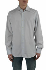 Dolce & Gabbana Men's Light Gray Dress Shirts US 15.75 16.5 17