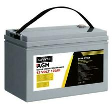 Giantz AGM 12V Deep Cycle Battery - Grey