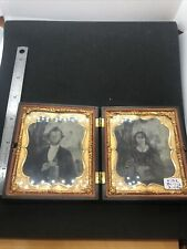 Vintage Victorian Era Women And Man Ambrotype