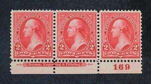 CKStamps: US Stamps Collection Scott#266 Strip Mint NH OG