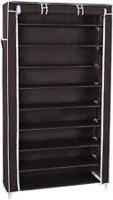10-Tier Shoe Rack Cabinet with Dustproof Cover Storage Organizer Closet Dark