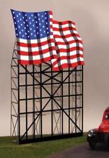 Miller Engineering HO/O Waving American Flag Animated Neon Billboard Sign 4071