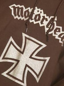 Motörhead Hoodie XL (Chocolate brown w/metallic silver front & back print) Lemmy