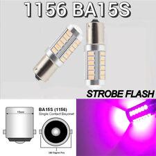 Front Turn Signal Light 1156 BA15S P21W 7506 1141 3497 LED Purple Bulb K1 HAK
