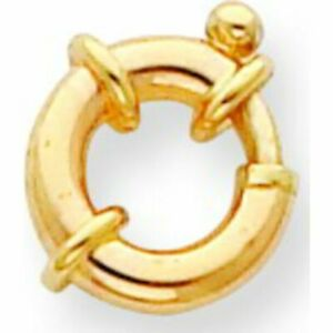 14K Gold Spring Ring Clasp