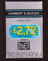 Empty cigarette packet Lambert & Butler King Size  £ 2.72