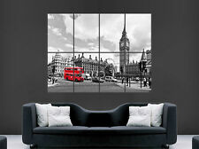 Londra Rosso Bus Poster Westminster Big Ben House of Commons Wall Art Immagine Enorme
