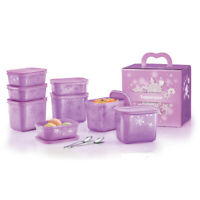 Tupperware 2 In 1 Chill Freez Food Containers Set -Purple Daisy- Free Shipping