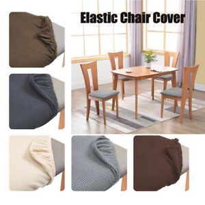 Stretch Chair Seat Cover Removable Elastic Party Wedding Seat Cushion Slipcovers