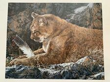 """Signed /& Numbered Ltd Edition Print /""""Paws And Reflect/"""" by Judy Larson"""