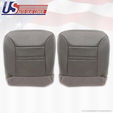 2000 Ford Excursion Limited Driver & Passenger Bottom Leather Seat Cover Gray