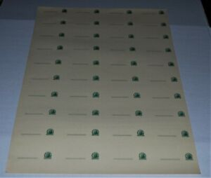 Rare Uncut Sheet of Forty Jefferson One Cent Stamp Blank Postcards, U.S. Postal