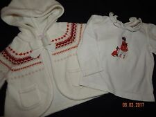EUC (2)Pc  Janie & Jack RARE 12-18 Month Autumn Equestrian FOX IsleTop Sweater