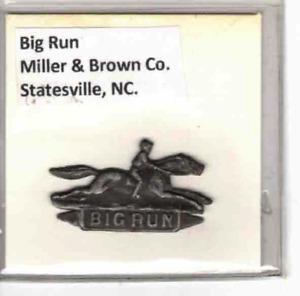 Tobacco Tag Miller & Brown Co. Statesville, NC. Big Run