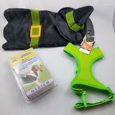 Dog Halloween Witch Costume Lime Green Harness Halter Harness Bundle Lot