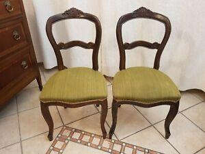 Coppia di sedie epoca Luigi Filippo in noce massello '800