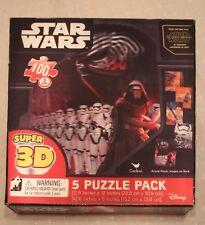 Star Wars Force Awakens 3D Jigsaw Puzzle Pack Set 5 Hologram Sealed