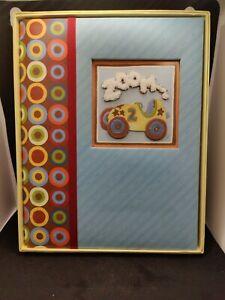 Scrapbook. New. Scrapbook For A Baby Boy.  Zoom Zoom Memory Book