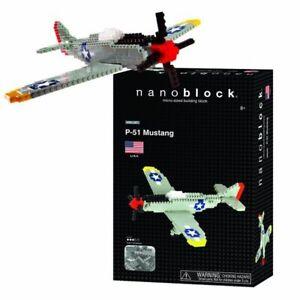 Nanoblock P-51 MUSTANG WWII PLANE - NBM-005 Level 3 - 480 Pieces NEW
