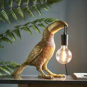 Visionary Lighting Toucan Table Lamp in Vintage Gold