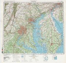 Russian Soviet Military Topographic Maps  - state PENNSYLVANIA (USA) 1:500 000