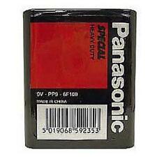 Panasonic heavy duty batterie PP9 9V carré bloc radio stud terminaux zinc neuf