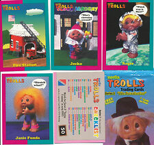 Norfin Troll Trading Cards 50 card Base Set with 2 random Stickers 1993 NM/M