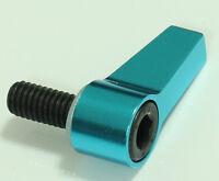 1x blue aluminum M6 Knob Thumb Screw L Shape Screw For 15mm Rod Rail Rig Clamp