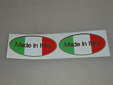 Made in Italy stickers - 75x35mm (pair) - ducati aprilia gilera etc - stickers