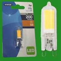 6x 2W G9 Capsule LED 200 lumen, Instant On Light Bulb Halogen Replacement 2700K