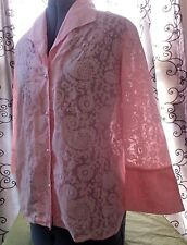 Allison Morgan 3/4 Sleeve Women's Shirt Blouse SZ Large