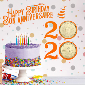 2020 Birthday Gift Card Set of 6 coins. SPECIAL $1 COIN ONLY COMES IN THIS SET