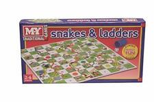 KT Serpientes y Escaleras Juego de Mesa Tradicional, es juego para los ninos
