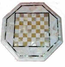 18''  Marble kids children game Chess table Top Inlay Stone handicraft p3