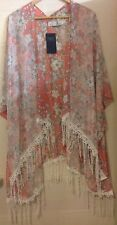 Marks & Spencer M&S Collection Coral Lace Fringed Beach Bikini Cover Up Kaftan