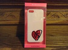 Victoria's Secret  Iphone 5 Cell phone Case Cover hard Heart VS rhinestones New