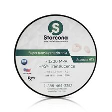 Shaded Dental Zirconia Disc 98mm 1200MPA / 45% Translucence Made in the USA!