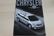 112310) Chrysler Voyager - Farben & Polster & technische Daten - Prospekt 02/200