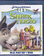 Blu-ray 3D + Dvd DreamWorks **SHREK TERZO** nuovo 2007