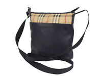 BURBERRY PVC Canvas Leather Crossbody Shoulder Bag OBS0001