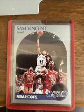 Michael Jordan Wearing #12 Jersey 1990-91 Hoops w/Sam Vincent #223 Bulls