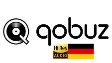 Qobuz Studio Hi-Res 12 Monate - Mit Ihrem Persönlichen Konto