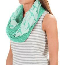 NWT $30 Pistil Avery Infinity Scarf Organic Cotton Two Pattern Print Airy Light