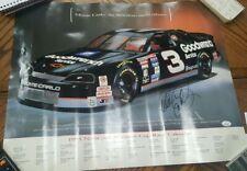 Vintage Authentic Autograph Nascar Dale Earnhardt Sr Full Size Racing Poster JSA