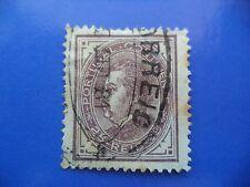 PORTUGAL STAMP - 1880/81 KING LUIS I (NEW DRAW / NOVO DESENHO) - 25 REIS VIOLET