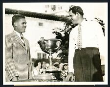 """1936 Ralph Guldahl, """"Winner of the Miami Biltmore Open"""" Poses w/ Trophy Photo"""