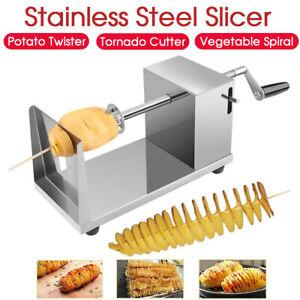Potato Twister Tornado Slicer Cutter Vegetable Spiral Machine Stainless Steel AU